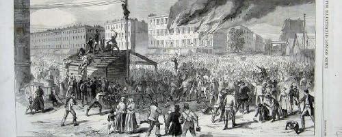 1863 の暴動のニューヨークの暴徒の非常に熱い憲兵隊長のオフィス
