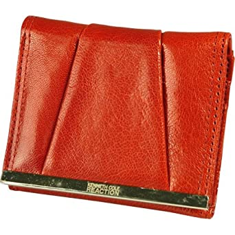 Mundi  Kenneth Cole Barcelona Trifold Small Wallet,Red,one size