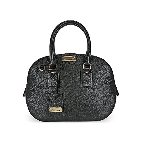 Burberry Small Orchard Leather Bowling Bag - Black