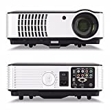 Full-HD-Beamer-Projektor-ELEGIANT-1080P-LED-Tragbarer-Projektor-Home-Multimedia-LCD-Portable-Projector-1280--800-Auflsung-2800-lumens-HDMI-USB-VGA-PC-VEDIO-Funkiton-fr-Heimkino-Home-Cinema-Theater-Unt