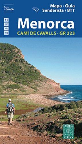 Menorca. Camí de Cavalls. GR-223. Català. Mapa de carreteras. Escala 1:50.000. Editorial Alpina.