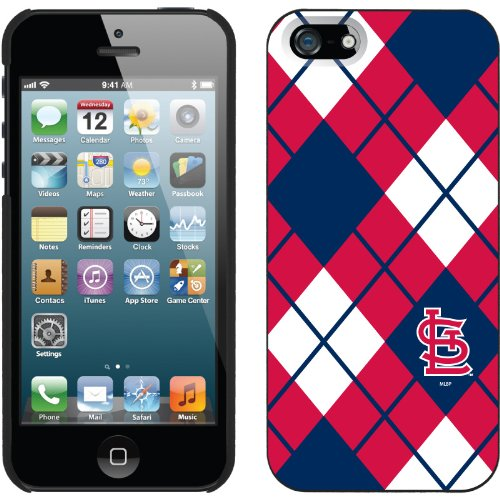 Special Sale St. Louis Cardinals - Argyle design on a Black iPhone 5 Thinshield Snap-On Case by Coveroo