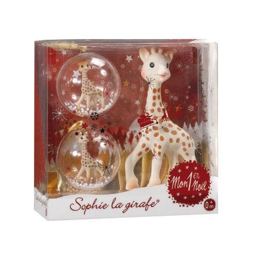 Baby's Chrismas Gift, Sophie the Giraffe My First Christmas Teether and Ornament Set - 1