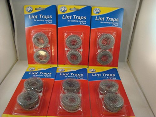 12 Lot Washing Machine Lint Traps Snare Filter Screens Aluminum Mesh W/ Clamps (Front Load Washer Tub Cleaner compare prices)