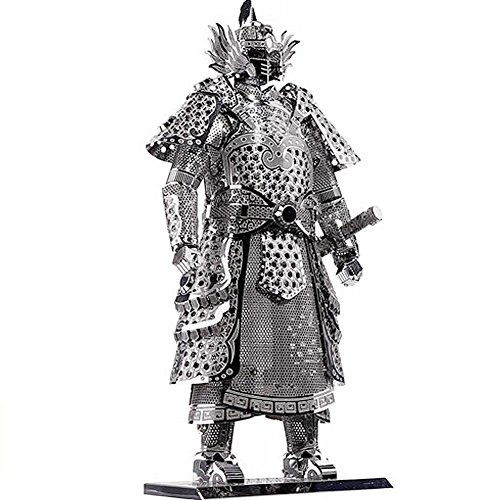 D-Mcark 3D Metal Models Art Metal Works 3D Laser Cut Models Puzzle Tool Kit Warrior's Armor Silver (Model Kits compare prices)