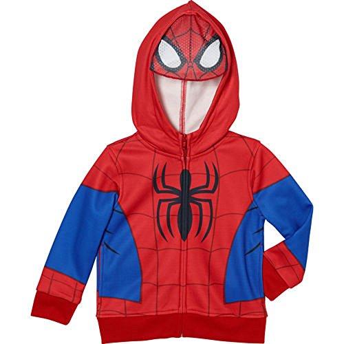 Spiderman Boys' Fleece Hoodie with Mask (6)