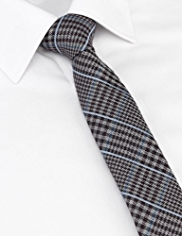 Limited Collection Wool Blend Checked Tie