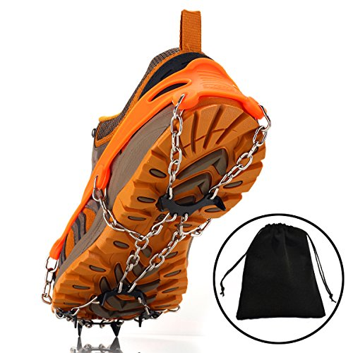 Uelfbaby Walk uelfbaby Ice Traction Cleat for Snow and Ice - Lite Duty Serious Traction cleats for Boots and Shoe Ice Cleats (orange) (Snow Ice Traction compare prices)