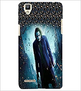 PrintDhaba Joker D-3994 Back Case Cover for OPPO F1 (Multi-Coloured)