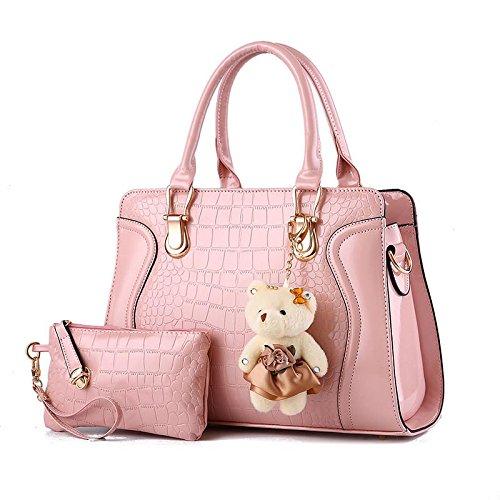 moda-pu-piccolo-orso-spalla-messenger-bag-borsa-2-pezzo-pink
