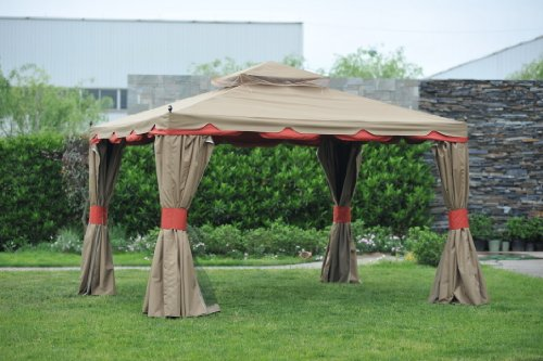 Gazebo Curtains Check Out Benson Gazebo 10x12 With Netting And Walls
