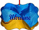 Ukrainian Flag-Benelux Aluminum Christmas Ornament with a Red Satin Ribbon/Holiday Hanging Tree Ornament/Double-Sided Decoration/Great Unisex Holiday Gift!