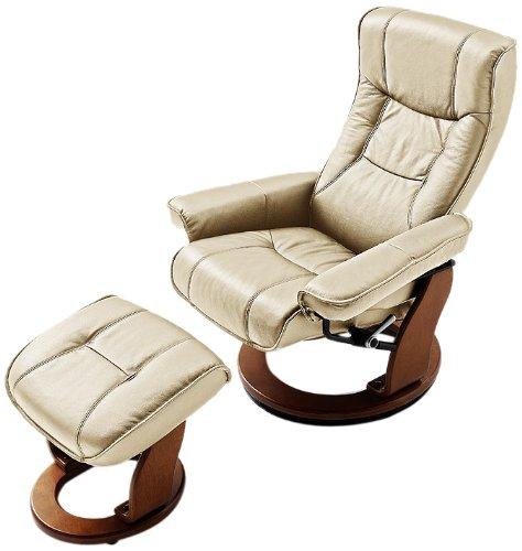 Robas-Lund-64026CH5-Relaxsessel-Hamilton-mit-Hocker-Bezug-Leder-creme-Gestell-Honigfarben-83-x-85-110-x-105-cm