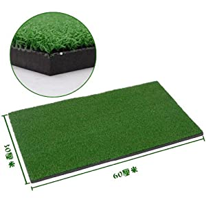 """Relefree® Backyard Golf Mat 12""""x24"""" Residential Training Hitting Pad Practice Rubber with Tee Hole Holder Grass"""