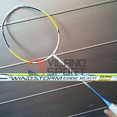 Li-Ning Code Black 10 Windstorm Carbon Fiber Badminton Racquet, Size S2 (White/Lime)