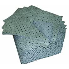 "Oil-Dri L90902 15"" W x 19"" L Universal Heavy Weight Perforated Pads (100 Pads/Box)"