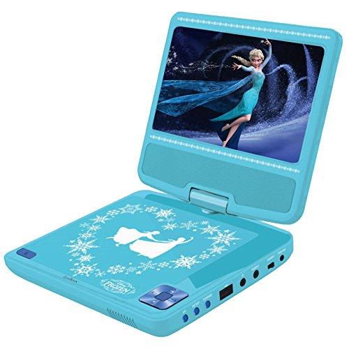 Frozen - Reproductor de DVD portátil, color azul (Lexibook DVDP6FZ)