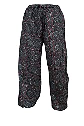 Indiatrendzs Women Pant Printed Rayon Grey Evening Wear Yoga Pants