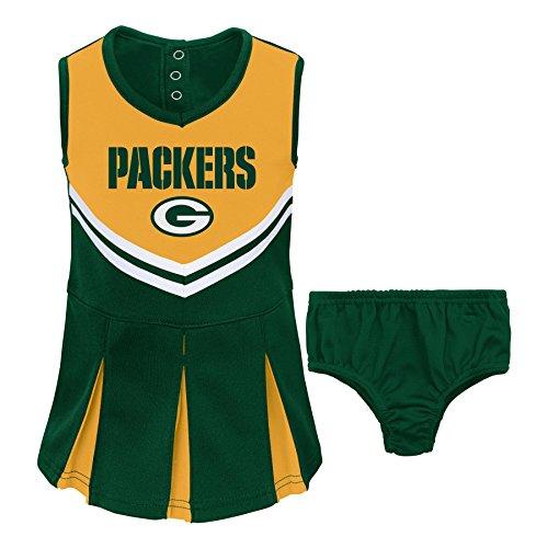 Girls Green Bay Packers Cheerleader Outfit Packers Cheer