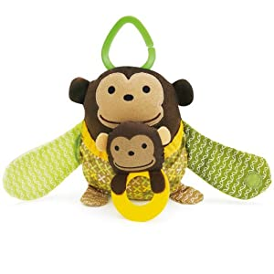 Skip Hop Hug and Hide Stroller Toy, Monkey