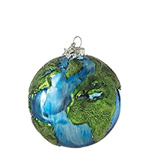 "Earth Design 3"" Glass Ball Christmas Tree Ornament"