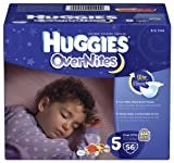 Huggies Overnites Diapers, Size 5, Big Pack, 56 Count