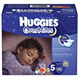 Huggies Overnites Diapers, Size 5, 52 ct ~ Huggies