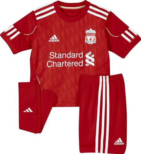 LIVERPOOL 2010/2011 Home Mini Kit, Red, Age 6
