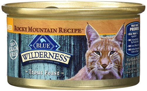 BLUE Buffalo Wilderness Rocky Mountain Recipe™ Flaked Trout Feast For Adult Cats