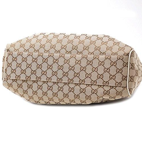 13145ba5d966 Gucci 211944 Sukey Medium Beige Original GG Monogram Canvas Leather ...