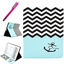 buy Ipad 2/3/4 Case, Ipad 4 Leather Case, Jcmax Protective Cover [Card Slots] [Durable Cover] Flip Premium Foldable New Book Style Pu Leather Wallet Kickstand Case Smart Cover Skin Protection For Apple Ipad 2 / Ipad 3 / Ipad 4, Come With One Stylus - [Anchor