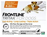 Frontline Tritak for Dogs and Puppies, 4-22 lbs 3 Month Supply