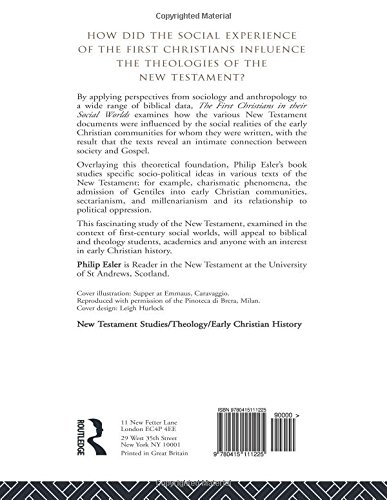 The First Christians in Their Social Worlds: Social-Scientific Approaches to New Testament Interpretation