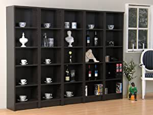xl wohnwand nikolai regalwand regal vitrine kolonial. Black Bedroom Furniture Sets. Home Design Ideas