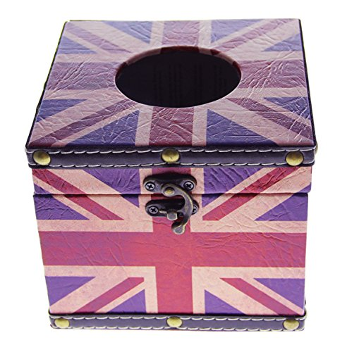 JustNile British Flag Design Synthetic Leather Toilet Tissue Box Cover (Napkins British compare prices)