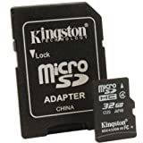 Kingston Digital 32 GB microSDHC Flash Memory Card SDC4/32GB