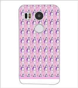 PrintDhaba Girl Pattern D-1567 Back Case Cover for LG NEXUS 5X (Multi-Coloured)