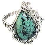 Amazonite, Amazonite Argent Sterling 925 Bague 9.25