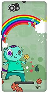 The Racoon Grip Happy Monsters hard plastic printed back case/cover for Sony Xperia M
