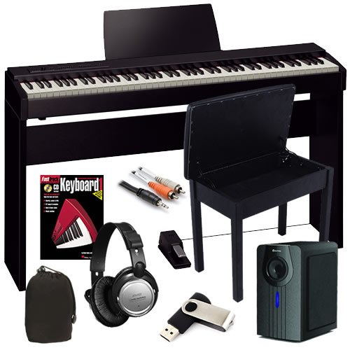 Roland F-20 Digital Piano Bundle W/ Subwoofer, Wood Stand & Bench