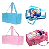 1 of 2 Colors Portable Baby Diaper Storage Organizer Mother Bag Handbag Color:Pink