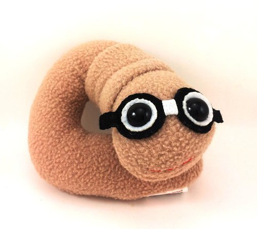 Flaky Friends: Bookworm Plush Toy Book Worm - 1