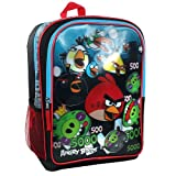 Angry Birds Backpack - Black with Red and Blue Trim