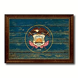 Utah State Vintage Flag Collection Western Interior Design Souvenir Gift Ideas Wall Art Home Decor Office Decoration - 23''x33''