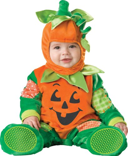 InCharacter Unisex-baby Infant Pumpkin Costume, Orange/Green, Large image