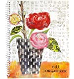 Monthly Bill Paying Organizing Organizer Budget Book with Pockets - Roses