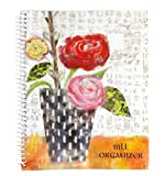 GIFTCO 8476 Bill Organizer With Pockets - Asian Flowers