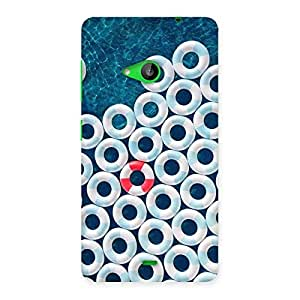 Stylish Blue Sea Saving Back Case Cover for Lumia 535