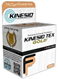 "Kinesio Tex Gold Tape - 2"" W x 16.4 L - Water Resistant - Single Roll - Beige"