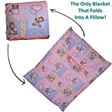 Dazoriginal almohada manta para el beb� reci�n nacido regalo Set - beb� Playmat - manta de viaje y Almohada - beb� mantas actividad alfombra 100% algod�n (Baby Pink Bear)